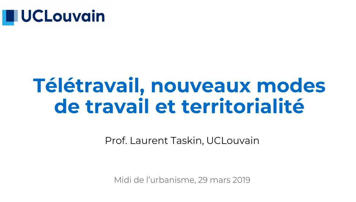 Laurent Taskin - Professeur de management humain et des organisations à la Louvain School of Management et à l'Institut des Sciences du Travail