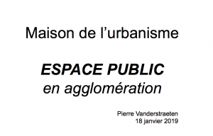 Pierre Vanderstraeten - Espace public en agglomération